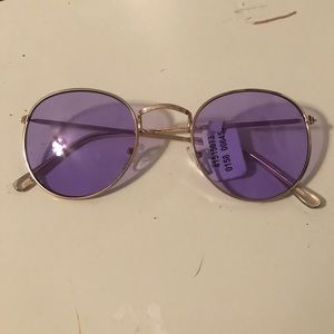 PURPLE ROUND SUNGLASSES